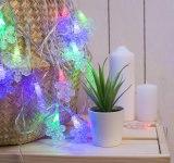 Гирлянда Нить снежинка волшебство 5 м 20 LED мульти, нить силикон
