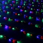 Гирлянда Светодиодный Дождь наружняя 2х1,5м мульти, 400 светодиодов, нить темная