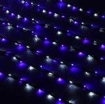 Гирлянда Светодиодный Дождь наружняя 2х3м бело-синяя, 800 светодиодов, темная нить