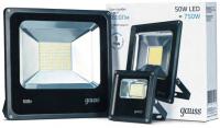 Прожектор светодиодный Gauss LED 100W IP65 6500K черный