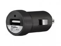 Автомобильный зарядник USB 500мА, черный