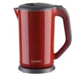 Электрочайник Galaxy GL 0318, 2000Вт, 1,7л, красный