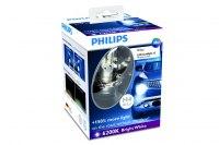 Автолампа светодиодная Philips H4-12W, X-treme Ultinion +150%, 6200K, 2 светодиода, набор