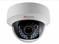 Видеокамера HiWatch DS-T107 (2,8-12мм), 1Мп, HD-TVI, CVBS, вариофакальная, купольная