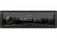 Автомагнитола Kenwood KMM-104GY, зеленая подсветка