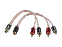 Межблочный кабель-разветвитель Aura RCA-AY10MKII, 1RCA гн + 2RCA шт, 0,2м