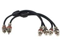 Межблочный кабель-разветвитель Aura RCA-BY21MKII, 1RCA шт + 2RCA гн, 0,2м