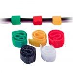 Стяжка для кабеля Липучка многоразовая, 6шт цветной