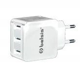 Зарядное устройство на 3 USB порта 3100 мА Belsis белое