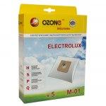 Мешок для пылесоса (пылесборник) AEG, 5шт., синтетические, многослойные OZONE  M-01