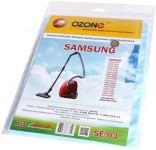 Мешок для пылесоса (пылесборник) SAMSUNG, 3шт., синтетические, многослойные OZONE  SE-04