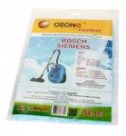 Мешок для пылесоса (пылесборник) BOSCH, 3шт., синтетические, многослойные OZONE  SE-05