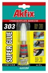 Супер клей AKFIX 303, 3гр, блистер