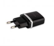 Зарядное устройство на 2 USB порта 2400мА Hoco C12 черное