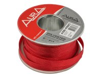 Оплетка Aura ASB-R920, изоляция змеиная кожа для кабеля, полиэстер, диаметр 9-20мм, цвет красный