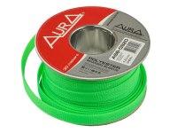 Оплетка Aura ASB-G920, изоляция змеиная кожа для кабеля, полиэстер, диаметр 9-20мм, цвет зеленый