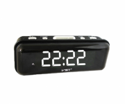 Часы VST 738-6 сетевые белые