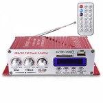 Усилитель звука HY400 (2x20Вт, USB, SD, FM, ПДУ)