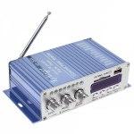 Усилитель звука HY502 (2x20Вт, USB, SD, FM, ПДУ)