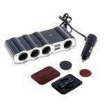 Разветвитель в прикуриватель Olesson WF-4008, 4 гнезда + 2 USB разъема, шнур
