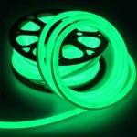 Лента Гибкий Неон GLS-2835-120-9.6-220-NL-IP67-G катушка 50м +шнур питания зеленый