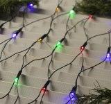 Гирлянда LED сетка 144 разноцветных светодиода 1,6х1,6 метра, темная нить
