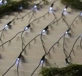 Гирлянда LED сетка 224 белых светодиода 2х2 метра, с контр. 8 р, темная нить