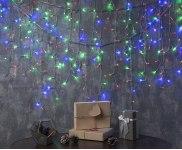 Гирлянда Бахрома 5,2*0,6 м 299 LED с контр. 8 р мульти, нить силикон, УМС