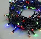 Гирлянда Нить 10 м 100 LED с контр. 8 р мульти, темная нить