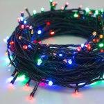 Гирлянда Нить 20 м 200 LED с контр. 8 р мульти, темная нить