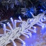 Гирлянда Нить уличная, 20 м 200 LED с контр. 8 р синий, белая нить