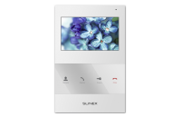 Монитор Slinex SQ-04 White, для видеодомофона, дисплей 4, цвет белый