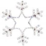 Фигура световая Снежинка цвет белый, размер 55*55 см, мерцающая NEON-NIGHT
