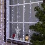 Гирлянда Светодиодный Дождь наружняя 2х3м белый, 800 светодиодов, нить силикон, УМС