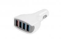 Автомобильный зарядник USB 7000мА, 4 USB-порта, Cablexpert MP3A-UC-CAR18 быстрая зарядка