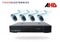 Комплект видеонаблюдения Fiesta X-4 BSS 3,6 AHD, 2Мп, на 4 уличные видеокамеры