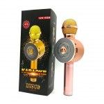 Микрофон вокальный WS-668, для караоке, Bluetooth, беспроводной, с динамиком