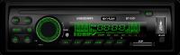 Автомагнитола Skylor BT-335, Bluetooth, зеленая подсветка, несъемная панель