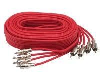 Межблочный кабель Aura RCA-B45SE, 4RCA шт + 4RCA шт, длина 5м