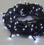 Гирлянда Нить 20 м 200 LED с контр. 8 р белый, темная нить