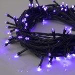 Гирлянда Нить 10 м 100 LED с контр. 8 р фиолетовый, темная нить