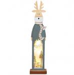 Деревянная фигурка с подсветкой «Рождественский олень» 11х5х47 см
