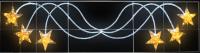 Фигура световая Брызги звезд 360 светодиодов 24м дюралайта, размер 400*100см  NEON-NIGHT