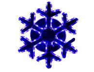 Фигура дюралайт Снежинка 52х52 см,96/16 LED, БЕЛЫЙ-СИНИЙ