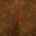 Гирлянда Светодиодный Дождь 2х1,5м, постоянное свечение, белый провод, 230 В, диоды ТЁПЛО-БЕЛЫЕ