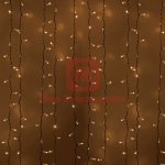 Гирлянда Светодиодный Дождь 2х3м, постоянное свечение, белый провод, 230 В, диоды ТЁПЛО БЕЛЫЕ
