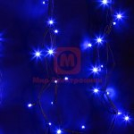 Гирлянда модульная Дюраплей LED 20м 200 LED черный каучук Синий